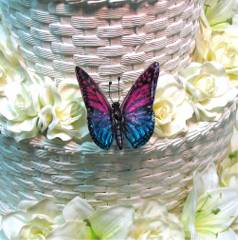 Purple & Blue Buttefly for Wedding Cake