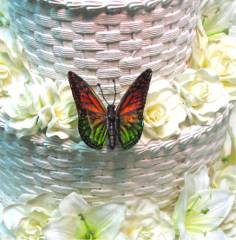 Reg & Green Butterfly for Wedding Cake