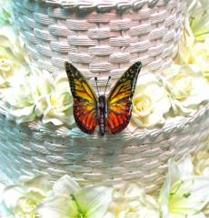 Yellow & Red Butterfly for Wedding Cake