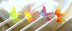 Bi-colored Butterfly Lollipops